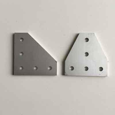 L or T plate for 2020 aluminum profile