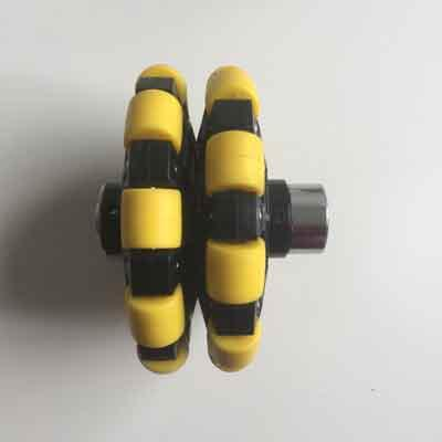 Omni-directional wheel 125mm w/ coupling