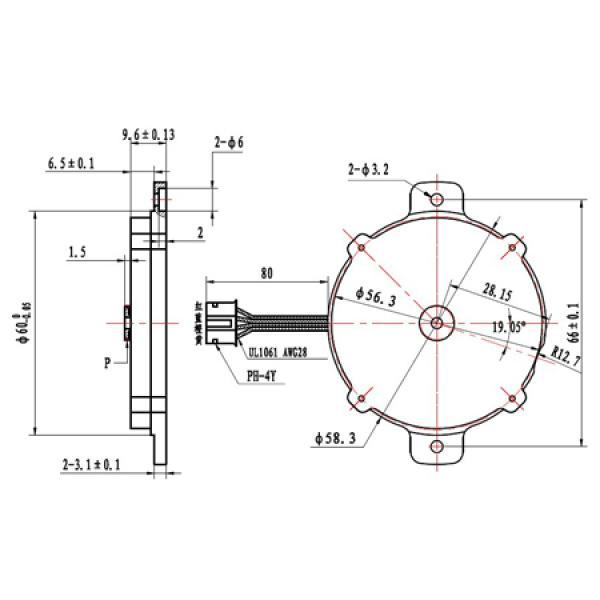 ultra flat stepper motor nema23 for feeders