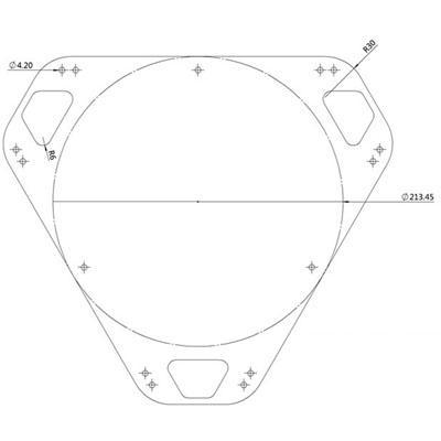 180mm Kossel Printing Plate