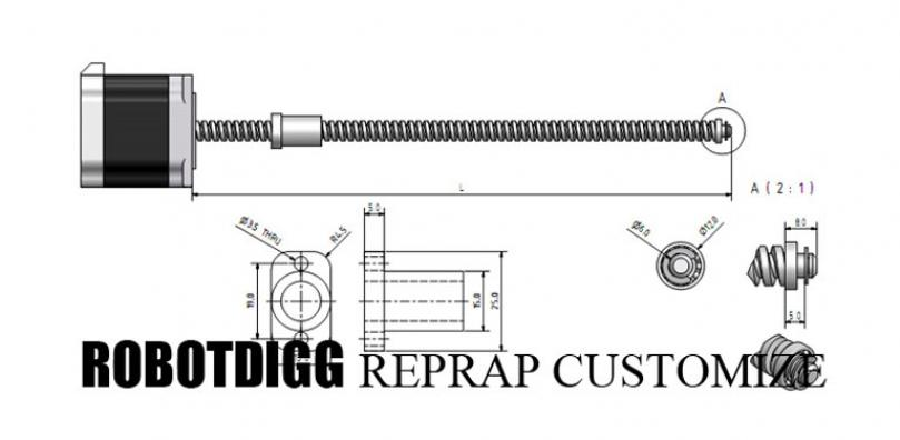 Leadscrew or Ballscrew Linear Stepper