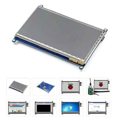 7-inch capacitive touch screen for Raspberry Pi
