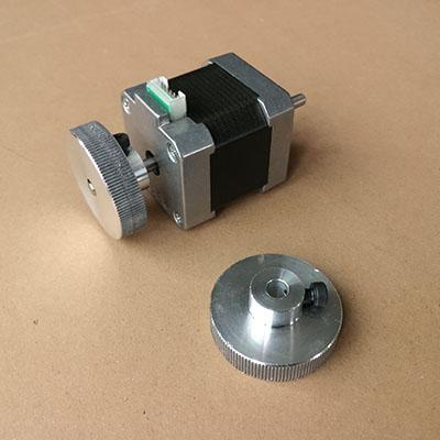 Handwheel for nema17 or nema23 stepper motor