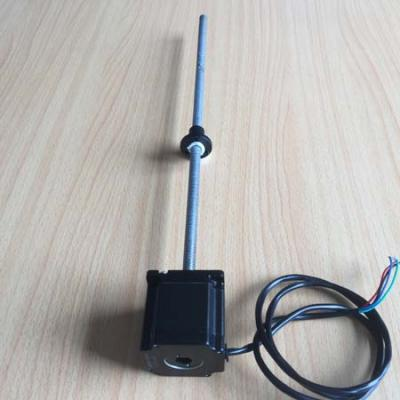 NEMA23 stepper motor integrated with 600mm Tr10*4 lead screw