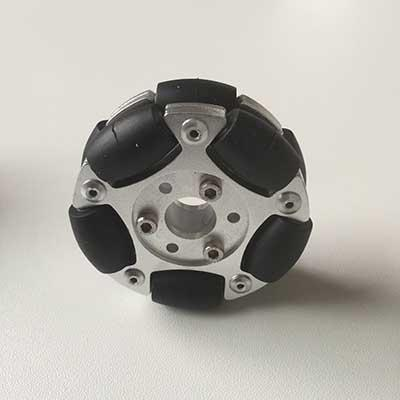 60mm dual-disc aluminum omni-wheel