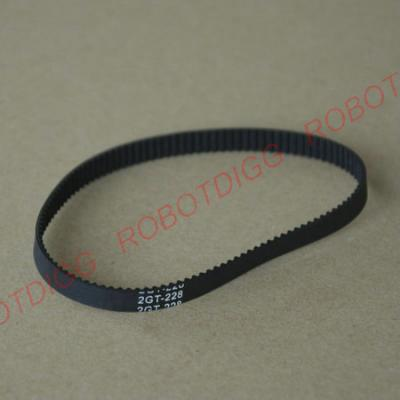 222/224/228mm or 232mm 2GT closed-loop belt