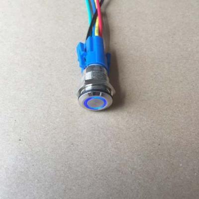 16mm waterproof led button blue