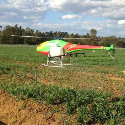 Single-rotor UAV agriculture helicopter for plant protection or farm