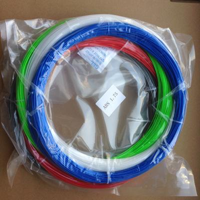 400g 1.75mm ABS Filament pack in 5 colors