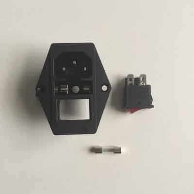AC rocker switch power inlet socket w/ fuse