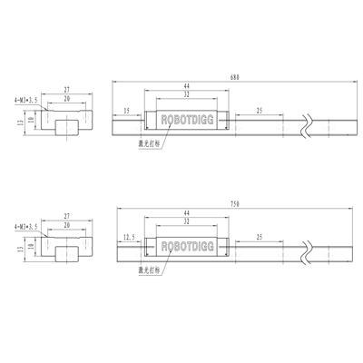440C SUS Linear Rail MGN12 680 or 750 n Carriage