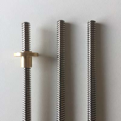 SUS304 Tr8*2 or Tr8*4 Lead Screw