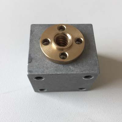 8mm lead screw brass nut aluminum block