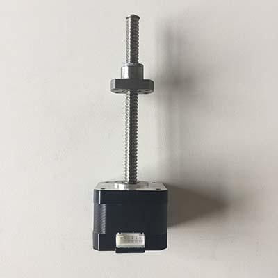 Ball screw threaded linear stepper motor