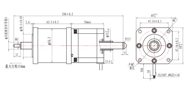ball screw non-captive nema23 linear stepper