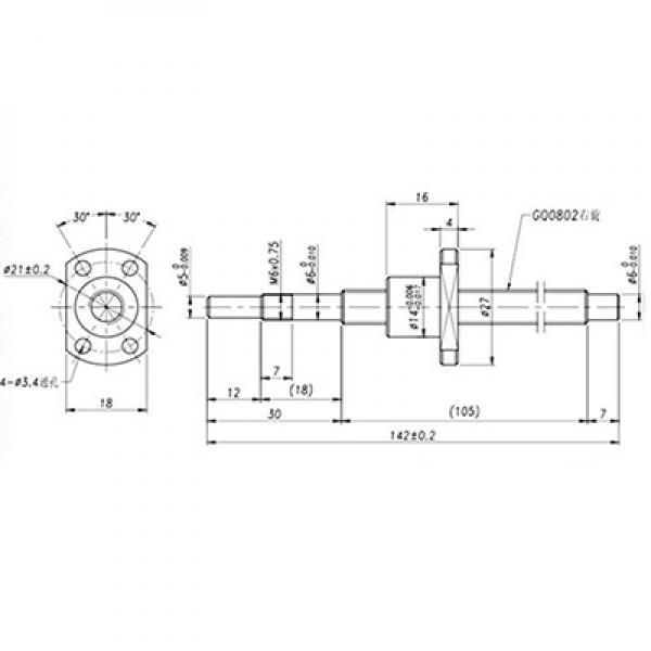 ground ball screw 0802 with machine end