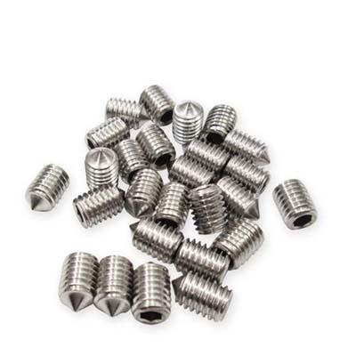 20pcs per pack SUS cone type set screw