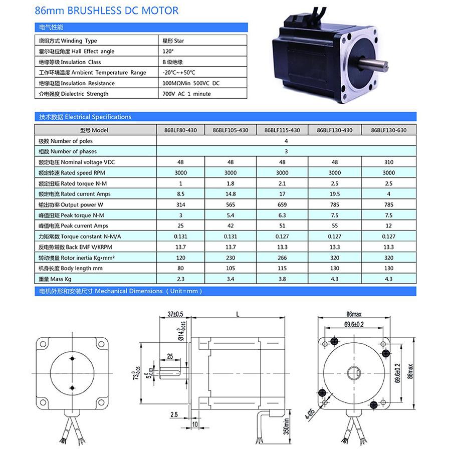 86 bldc motor