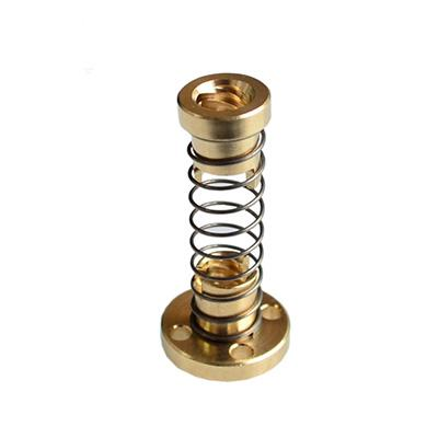Tr8 lead screw anti-backlash nut made of Brass