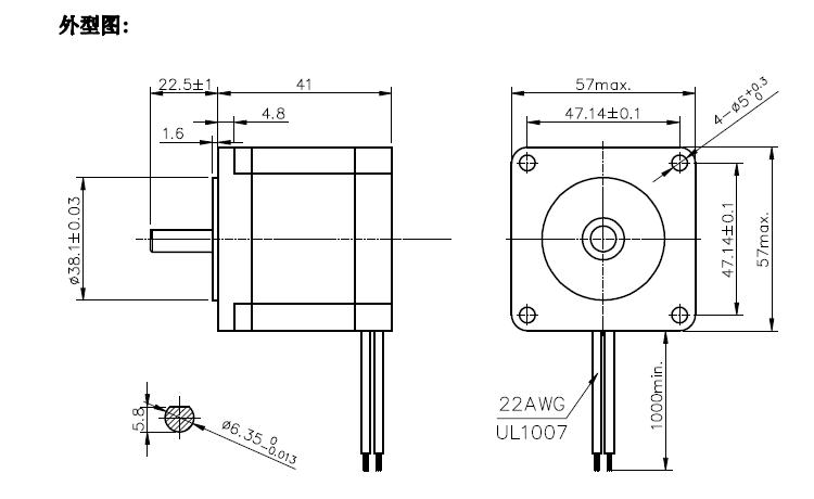 nema23 0.9 step angle