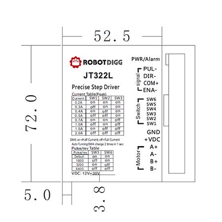 JT322L stepper driver