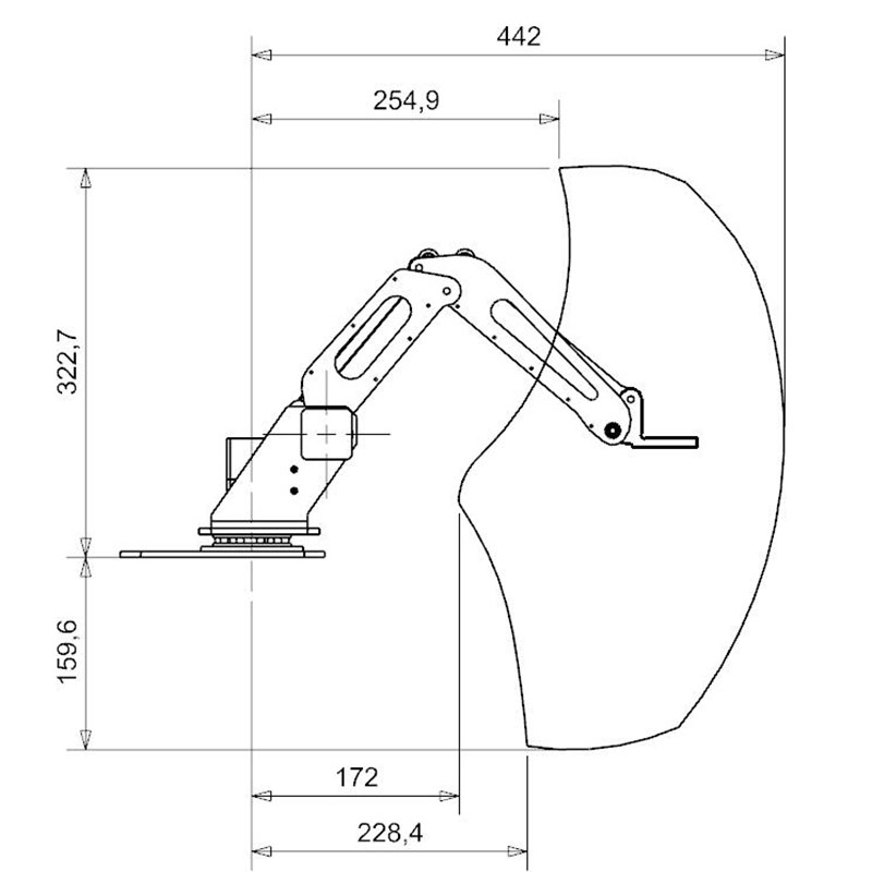 3 axis Robot Arm