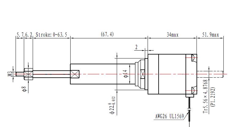 captive nema11 stepper motor