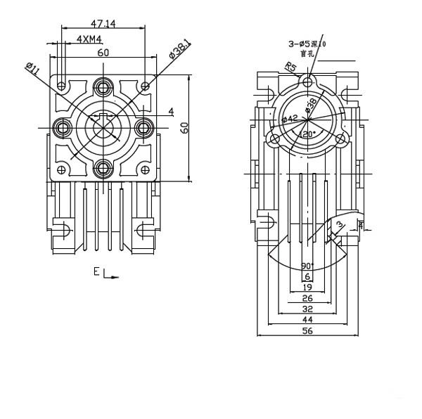 RV30 worm gearbox