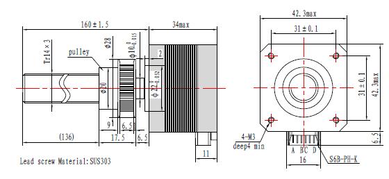 dual motion stepper motor