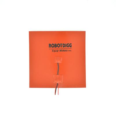 250mm square silicone rubber heater pad