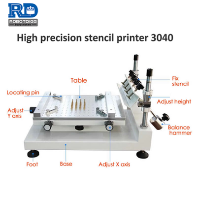 Classic 3040 high precision solder paste stencil printer
