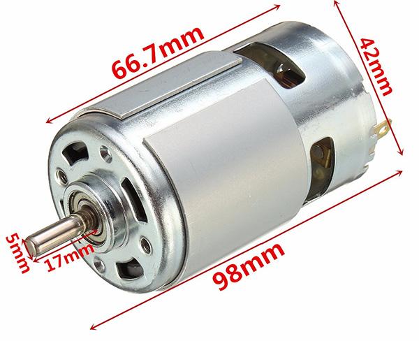 775 motor size