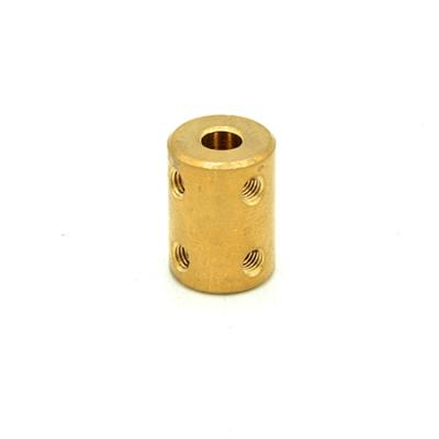 Rigid Coupler D16L22 in Brass 5mm