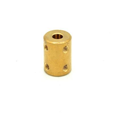 Rigid Coupler D16L22 in Brass 5mm