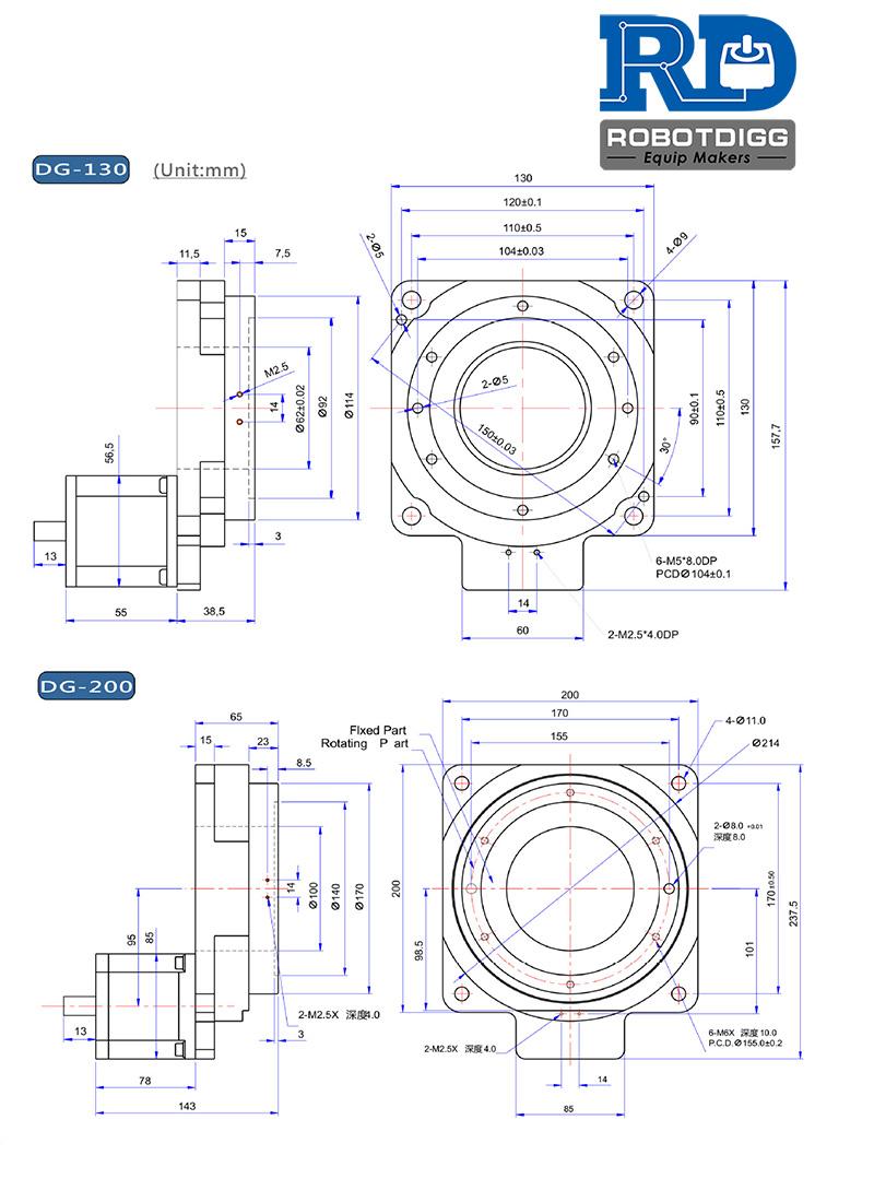 Stepper Motor Rotary Table TX130