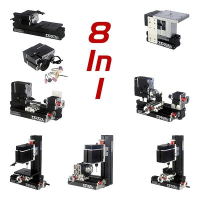 Mini Lathe CNC Machine DIY Teaching Model 8 in 1