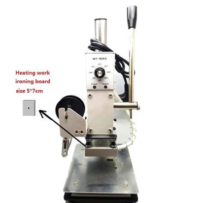 Desktop manual operation embossing or foil stamping machine