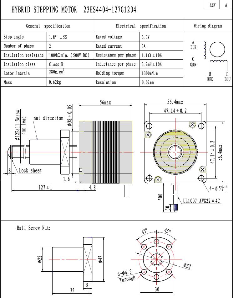 ball screw stepper linear actuator