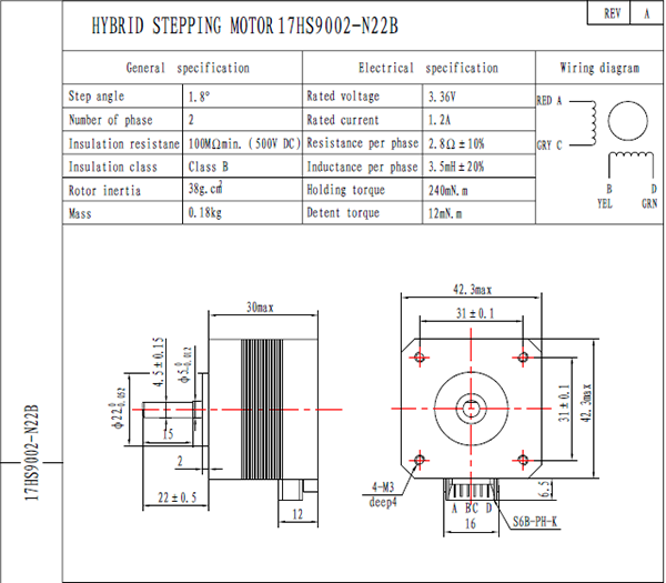 nema17 30mm stepper motor