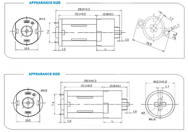 12GP-M20 micro dc motor
