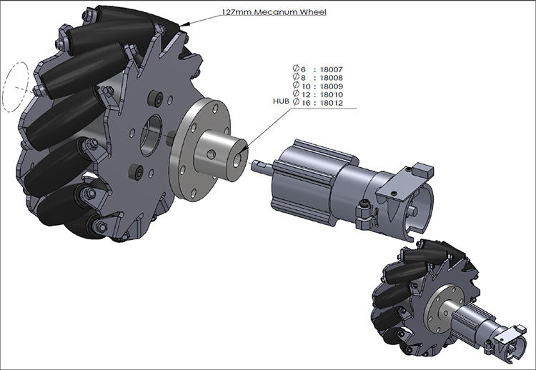 5 inch mecanum wheel