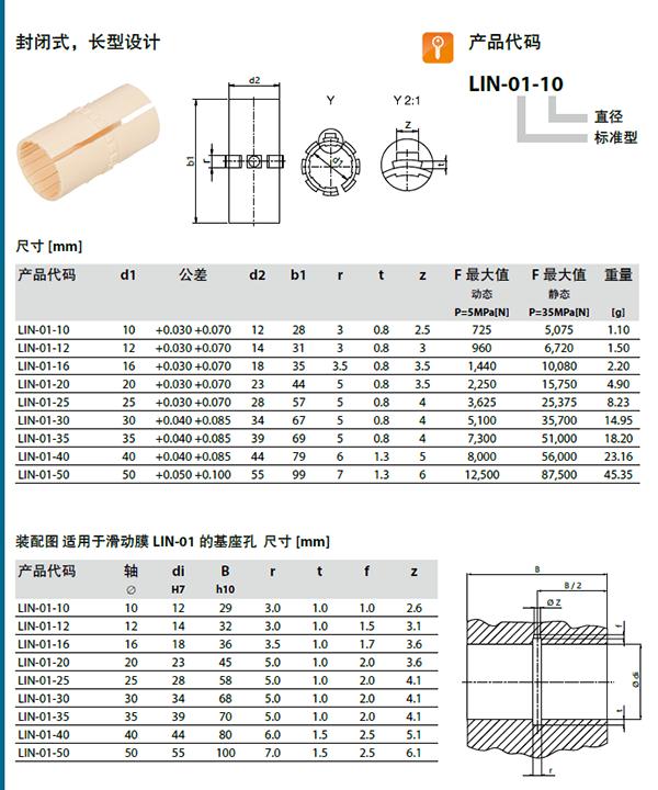 Dry Linear Bearing