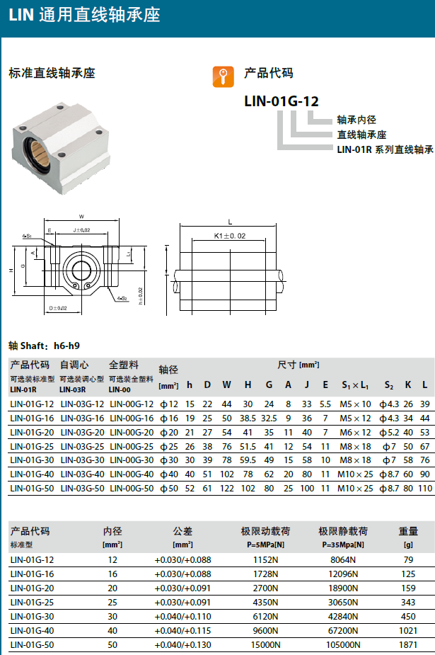 Dry Linear Bearing Block