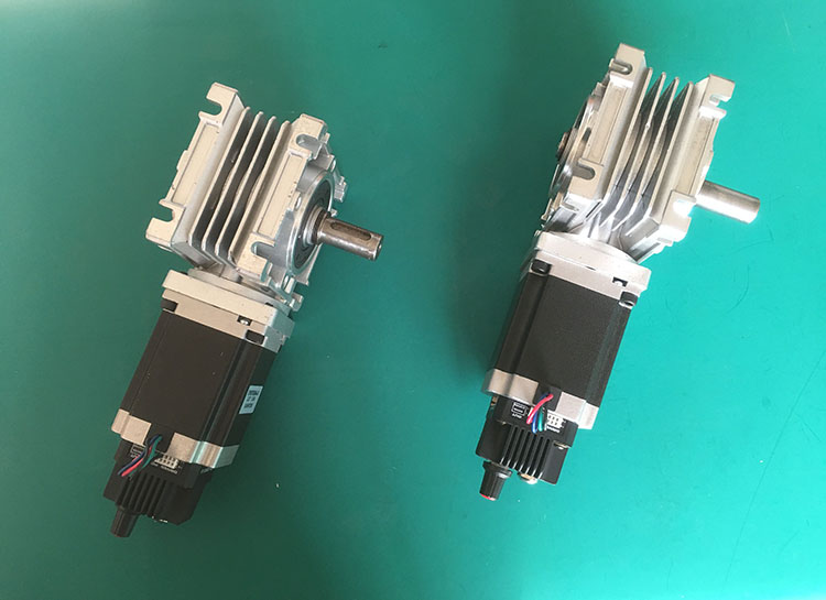 integrated stepper worm gear unit