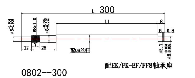 0802 ground ball screw
