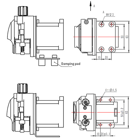 stepper motorized peristaltic pump