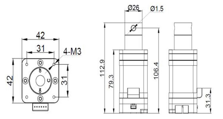 stepper motor proportional directional valve