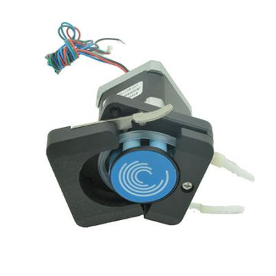 Stepper motorized openable head peristaltic pump