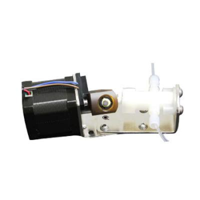 Stepper motorized rotary metering pump