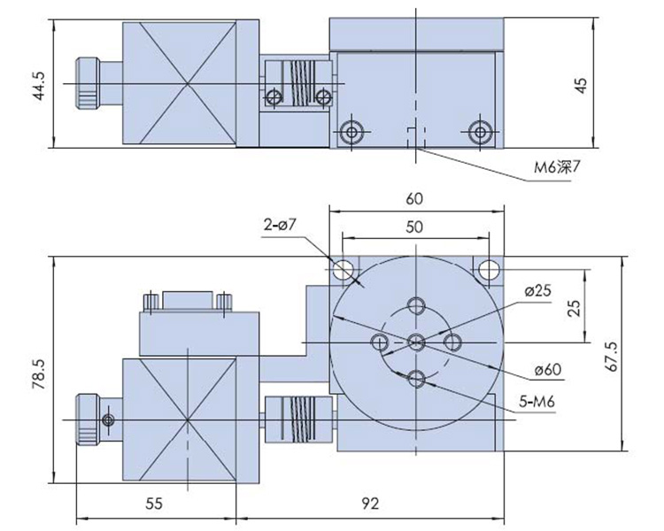 Stepper Motorized Rotary Table